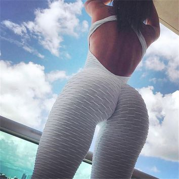 Fitness Women Sport Suit Jumpsuit 2018 Sexy Sleeveless Tracksuit Yoga Set Backless Gym Running Sportswear Leggings Workout Sport