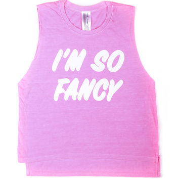 "Malibu Sugar Sleeveless Tee ""I'm So Fancy"""