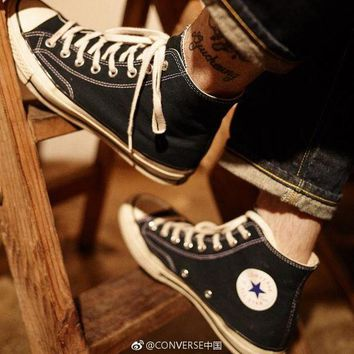 DCCKHB2 2018 New Converse Chuck Taylors ¡¯70 Canvas Shoes Chuck 1970s classic running shoes Thunderbolt Size 35-45 High top Casual Shoes new star Men's/Women's Canvas Shoes