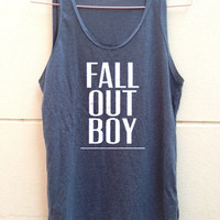 "Fall out boy shirt FOB shirt Fall out boy tank tunic Women""s clothing Size S M L"