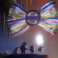 Up inspired grape soda disney hair bow!