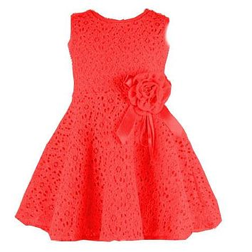 Newborn Baby Dress Kids Party Wear Princess Costume For Girl Tutu Bebes Infant 0-2 Year Birthday Dresses Girl Summer Red Clothes