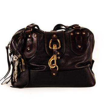 Chloe Western Purse in Dark Chocolate Leather