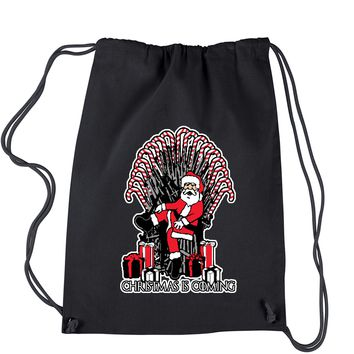 Christmas Is Coming GoT Ugly Christmas Drawstring Backpack