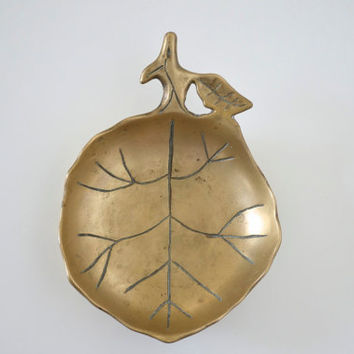 Brass bowl fruit shaped by SCAVENGENIUS on Etsy