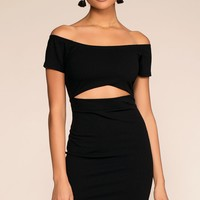Just Whistle Bodycon Dress - Black