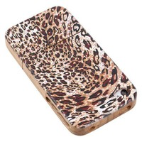 Wood iPhone 4/4sCase - Hand Carved Vintage Leopard