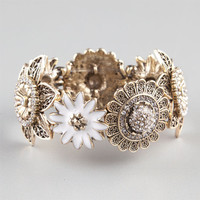 Full Tilt Daisy Flower Bracelet Gold One Size For Women 23452762101