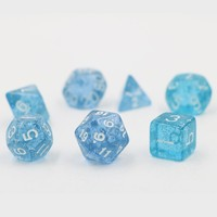 Dungeons & Dragons Creative 7pcs/set RPG Game Dice D&D Colorful Multicolor Dice DND Transparent Baby Blue D4 D6 D8 D10 D12 D20