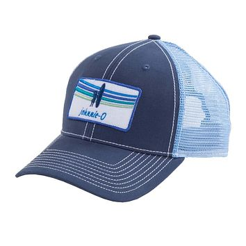 Pipeline Trucker Hat in Pacific by Johnnie-O