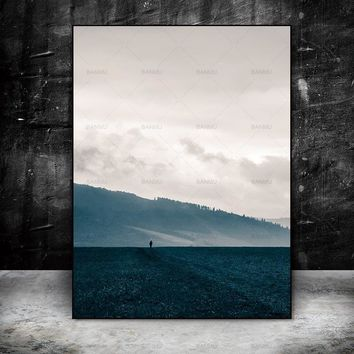 Art Picture poster Canvas painting wall print mountain and tree painting decorate for living room on Wall Picture home no frame