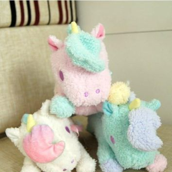 Unicorn Purse Handbag in Plush Soft Stuffed Toy Design with Chain
