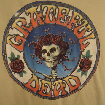 Vintage 1978 GRATEFUL DEAD Skull and Roses Stanley Mouse Tour Shirt
