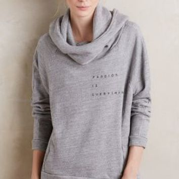good hYOUman Cowled Passion Hoodie in Light Grey Size: