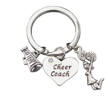 Cheer Coach Keychain