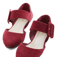 ModCloth Gait a Second Flat in Wine