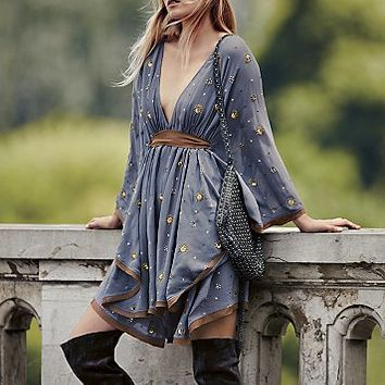 Free People Womens Celestial Embellished Mini