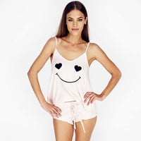 Strap Smiley Print with Ruffled Panty Short