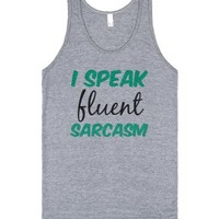 Fluent Sarcasm-Unisex Athletic Grey Tank
