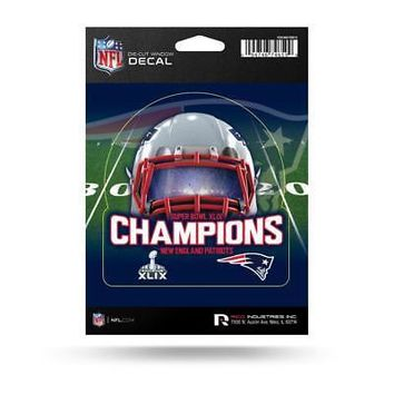 "Licensed New England Patriots 5"" Super Bowl 49 Champions Medium Die Cut Car Decal NE KO_19_1"