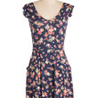 ModCloth Mid-length Cap Sleeves A-line Always Appropriate Dress