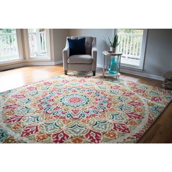 Mohawk Home Strata Jerada Multicolor Area Rug (5' x 8') | Overstock.com Shopping - The Best Deals on 5x8 - 6x9 Rugs