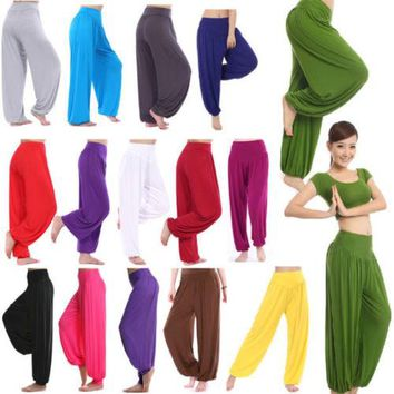 2017 Women Harem Genie Trousers Baggy  Aladdin Causal Gypsy Dance Pants
