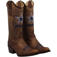 Dallas Cowboys Womens Flyover Pull Up Cowboy Boots - Brown