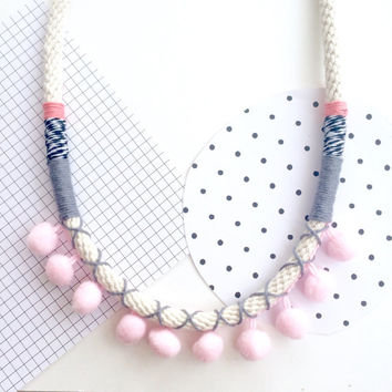 Nellie Pom Pom Necklace