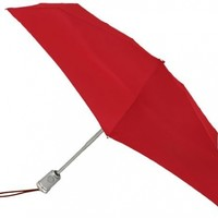 Totes Basic Automatic Umbrella,Crimson,One Size