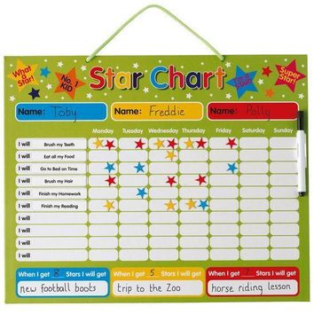 Magnetic My First Learning Calendar - Star Chart with hanging loop