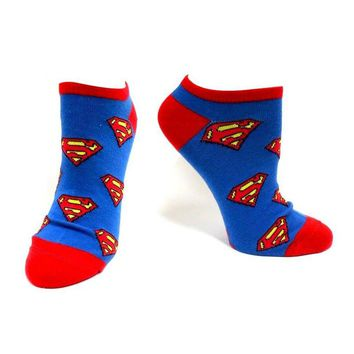 Superman Repeating Logo Ankle Socks