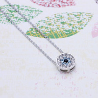 Forget me not  necklace with cubic