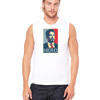 Tony Stark Hero - Mens Muscle Tank