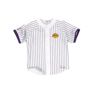 Button Front Jersey Los Angeles Lakers - Mitchell & Ness