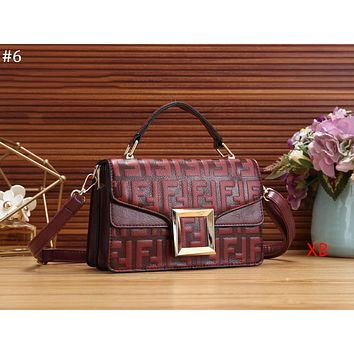 FENDI 2018 new double F embossed letters women's fashion flip bag shoulder bag Messenger bag #6
