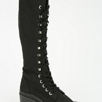 Urban Outfitters - On And On Knee-High Lace-Up Boot