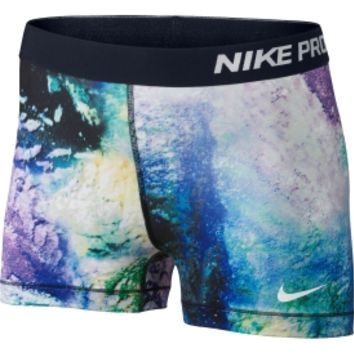 "Nike Women's Pro Core Aerial 3"" Printed Compression Shorts - Dick's Sporting Goods"