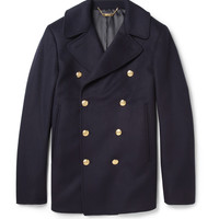 Alexander McQueen Wool and Cashmere-Blend Peacoat | MR PORTER