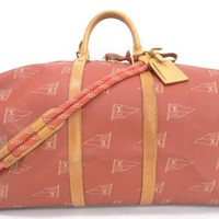Auth Louis Vuitton Cup For The America's Cup 0747 Boston Bag 23141091300 mB