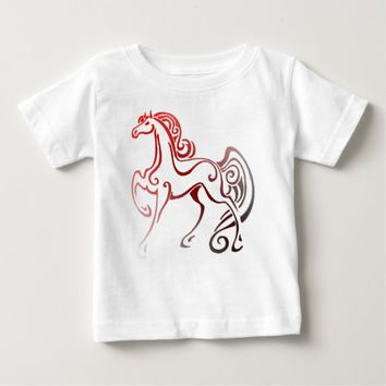 Horse Tails Baby T-Shirt