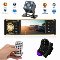4.1 Inch 1 Din Car Radio Stereo Player MP3 MP5 Car Audio Player with Bluetooth Remote Control USB AUX FM Radio Auto Components