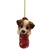 Holiday Ornaments JACK RUSSELL STOCKING Polyresin Dog Puppy Christmas 12468