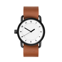 TID No.1 White / Tan Leather Wristband