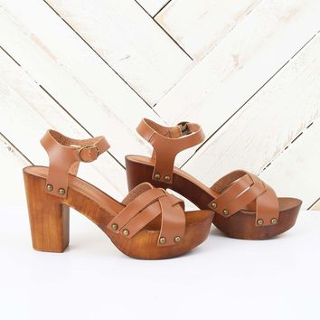 Altar'd State Lain Wooded Heels | Altar'd State