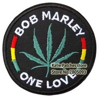 BOB Marley One Love Logo Iron On Patch ot Sticker, Jamaica Singer Punk Music Badge, Teenage Children Clothing DIY Accosserie
