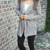 Man In The Moon Cardigan: Grey | Hope's
