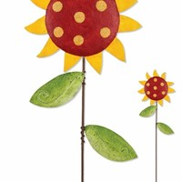 Whimsical Red Sunflower only $19.99 at Garden Fun - Mother's Day Garden Gift Ideas