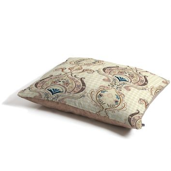 Pimlada Phuapradit Pink and Off white Floral Damasks Pet Bed