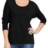 Women's Scoop-Neck Dolman-Sleeve Tops